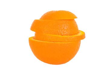 Orange geschichtet