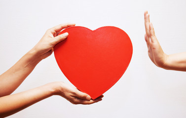 愛情を拒否するイメージ