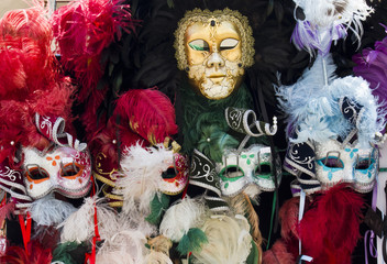 Typical Venetian Carnival Masks