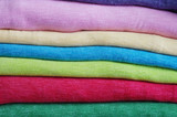 Colorful folded cotton polyester ,texture, background poster