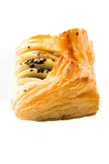 puff pastry and filling insied on white