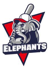 elephant baseball mascot