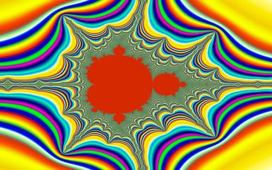 Psychedelic Mandelbrot fractal
