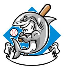 shark baseball mascot
