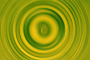 Spin blur in green color