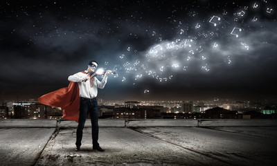 Superman with violin