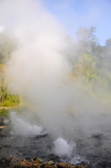 Natural hot spring in north of Thailand