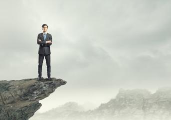 Businessman on top
