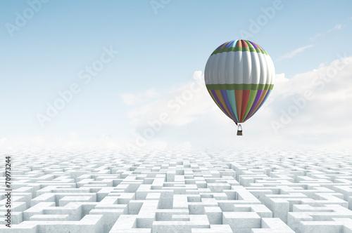 Fotobehang Ballon Aerostats in sky