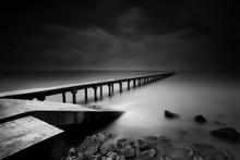 Jetty ou Pier en noir et blanc