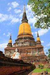 The Thai Monk at Wat Yai Chaimongkol Ayutdhaya