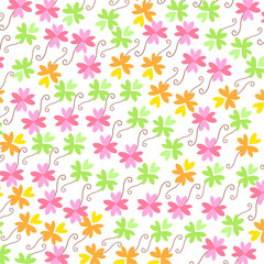 Colorful clover vector background