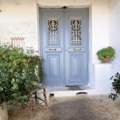 Entrance of an old house, Anafiotika Athens Greece