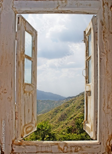 View From an Old White Window - 70976270