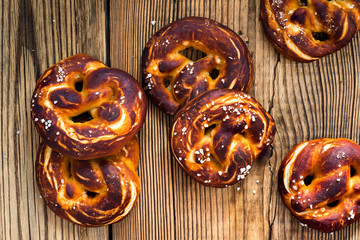 Pretzels, traditional German baked bread