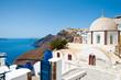 Fira Orthodox church on the Thera (Santorini), Greece.