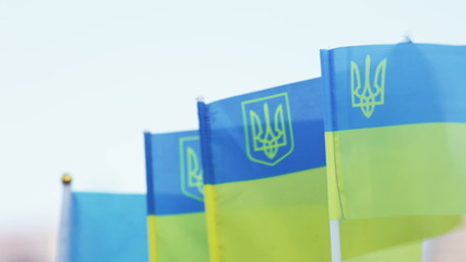 Flags of Ukraine souvenir
