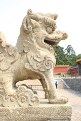 Chinese Stone Lion Statue