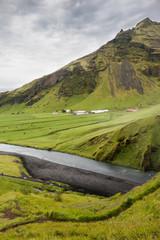 Campagne ferme islandaise Islande rivière