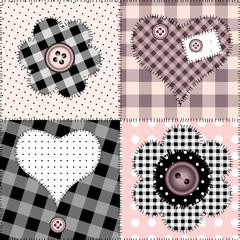 Seamless pink patchwork