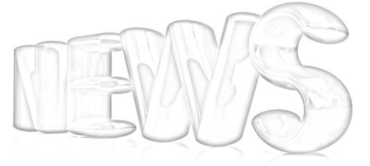 "3D text ""news"". Pencil drawing"