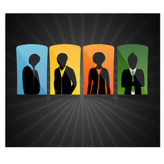 modern Businessman vector web background
