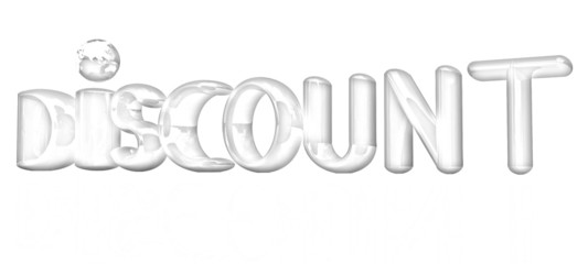 "3d text ""discount"". Pencil drawing"