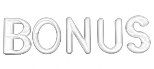 """3d text """"bonus"""". Pencil drawing"""