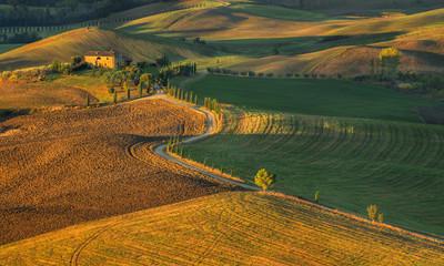 Fototapeta Toscania, Włochy, Krajobraz wiejski