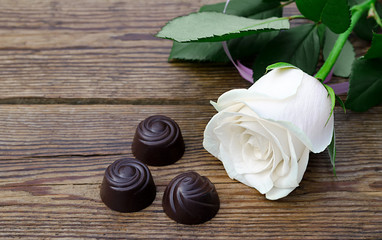 chocolate with a flower