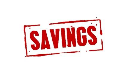 Savings Red Stamp Transition