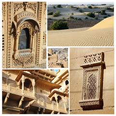 Collage of Rajasthan state popular touristic landmarks,India
