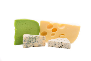 Various types of cheese composition.