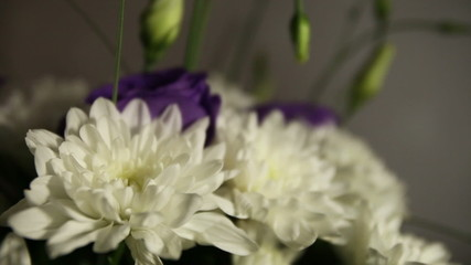 bridal bouquet of white chrysanthemums