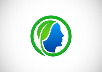 eco people health bio vector logo