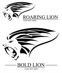 Roaring Bold Lion
