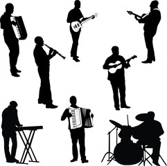 musicians collection - vector 1