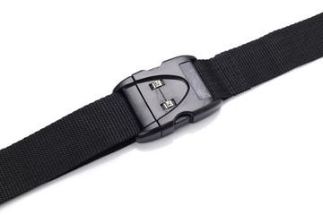 plastic buckle on strap combination lock