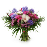 Hyacinth and gerber bouquet