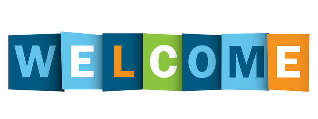 """WELCOME"" (card smile congratulations greetings)"