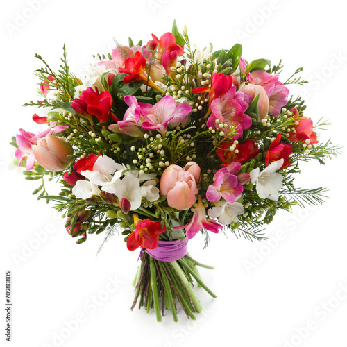 Deurstickers Tulp Freesia flowers bouquet