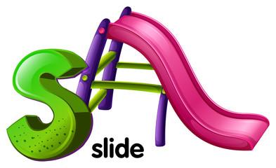 A letter S for slide