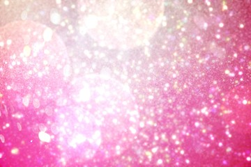 Shimmering light design on pink