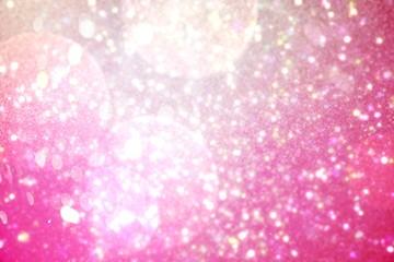 Shimmering light design on pink