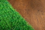 Artificial turf close-up poster