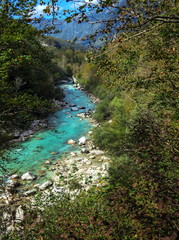 View on Soča river