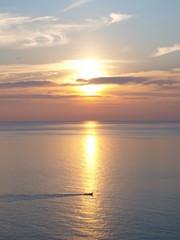 Wonderful sunset at the sea - location: Phuket, Thailand.