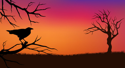halloween panoramic background
