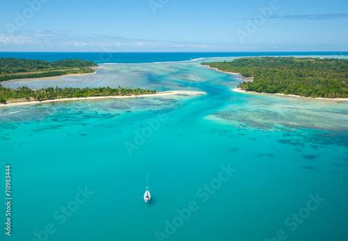 Foto op Plexiglas Zee / Oceaan Aerial view of Sainte Marie island, Madagascar