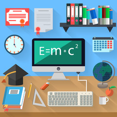 concept of distance learning and online education